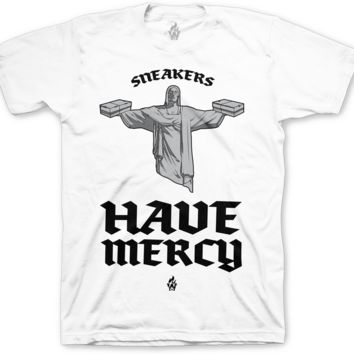 Jordan 5 Black Metallic Sneakers Have Mercy White T Shirt