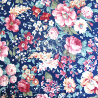 Vintage Joan Kessler Floral Cotton Fabric Home Decor Quilt Material