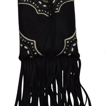 Beautiful And Stylist Native American Tribal with Fringe Women Mini Cross body Bags