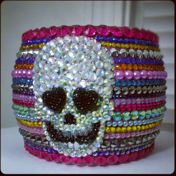 CRYSTAL Skull Fiesta Bangle
