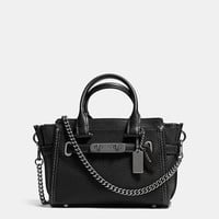 Coach Swagger 20 With Chain in Pebble Leather
