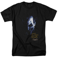 BATMAN AA/ARKHAM JOKER - S/S ADULT 18/1 - BLACK -
