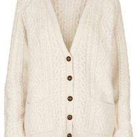 Tall Knitted Cable Cardi