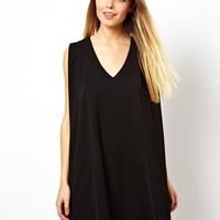 ASOS Mini Shift Dress With V Neck