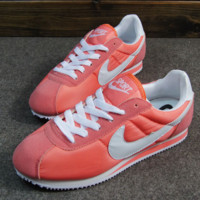 NIKE Cortez Forrest gump lovers shoes running shoes running shoes Pink white hook