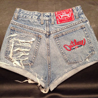 High waisted vintage denim shorts high waist jean cut offs