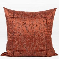 "Red Brown Abstract Pattern Frame Jacquard Pillow 22""X22"""