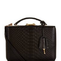 Mark Cross Small Python Grace Box Bag | Harrods.com