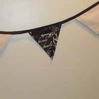 Gray, Black and White Family and Friends Themed Bunting