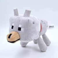 Minecraft Wolf Stuffed Animals Toys Minecraft Wolf 21cm Cotton Plush Toys with Tag Bat Spider Zombie GREAT COLLECTION & Christmas Gifts