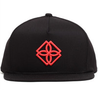 Monogram Snapback Hat Black / Infrared