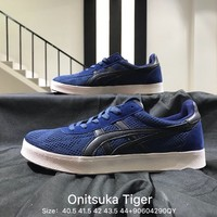 Onitsuka Tiger TH3Q1L Blue Dnd White 2018 New Sneakers Teenagers men Skateboarding Shoes