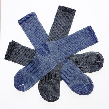 Men's Outdoor Trail Socks with Warm Wool Blend