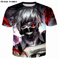 Tokyo Ghoul t shirt Men/Women PLstar Cosmos brand T-shirt 3d Print Ken Kaneki Summer Tops Tees T shirt Drop shipping