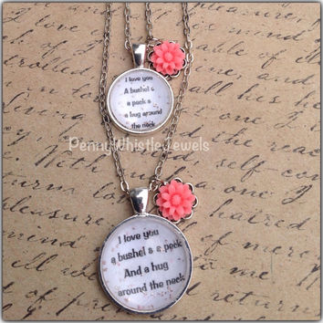 I Love You Necklaces, Mother Daughter Necklaces, Mom And Me Necklaces, Mommy And Me Jewelry, Mothers Day, PennyWhistle