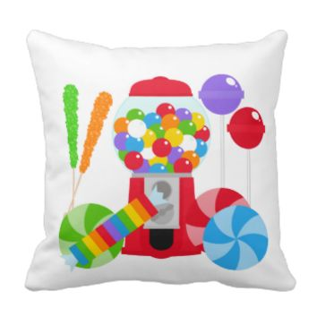 I Love Candy Pillow