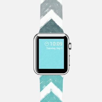 Tiffany Blue Chevron Canvas Apple Watch case by Love Lunch Liftoff | Casetify