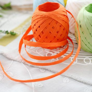 20M Raffia Paper Ribbon Natural Rope DIY Gift Packaging Paper Rope Decorations Birthday Wedding Party Supplies Candy Box Craft