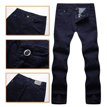 Jean Mens Comfort Elegant Made Of High Material Geometry Gentleman Free