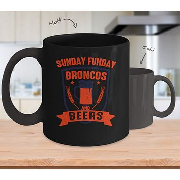 Sunday Funday Broncos And Beer Coffee Mug