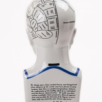 Ceramic Phrenology Head Bank