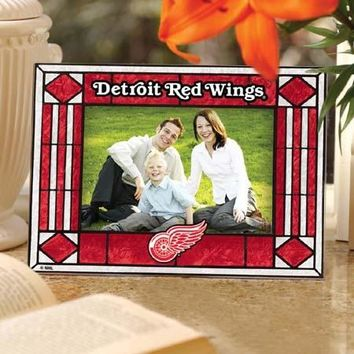 NHL Detroit Red Wings Landscape Horizontal Art Glass Picture Frame
