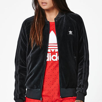 adidas x Pharrell Williams HU Race Velour Track Jacket at PacSun.com