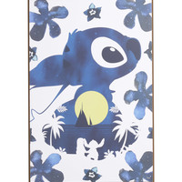 Disney Lilo & Stitch Silhouette Moon Wood Wall Art
