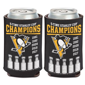 PITTSBURGH PENGUINS 5-TIME STANLEY CUP CHAMPS KADDY KOOZIE CAN HOLDER WINCRAFT