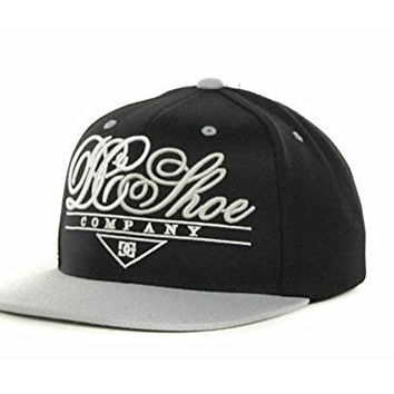 DC Shoes Classy Flat Brim 9fifty Snapback Hat Cap Osfa (Black/Grey/White)