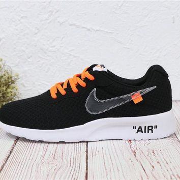 Nike Roshe Run Sport Casual Shoes Sneakers Black Size 36-44-4