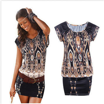 Boho Sexy Women Sleeveless Party Evening Summer Beach Mini Dress