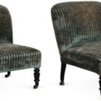 One Kings Lane - Kelly Wearstler: Modern Glamour - Low Side Chairs, Pair
