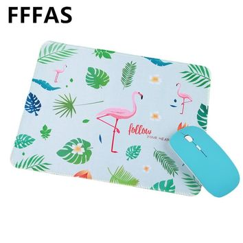 FFFAS 26cm X 22cm Flamingo Unicorn Mouse Pad Beautiful Office Gamer Gaming Keyboard Mat Lucky Small Decoration Tapis De Souris S