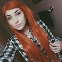 Clementine Dreams - Lush Wigs - Long Light Orange Straight Cosplay Hair Gothic Cosplay Lush Wig