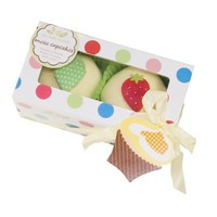 The Baby Bunch Cupcakes Box of Two - Yellow, 0-6 Months