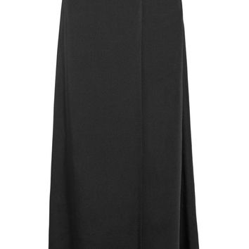 Helmut Lang - Wrap-effect satin-twill maxi skirt