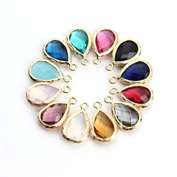 5pcs 10X17mm Natural Stone Necklace Charms Pendant(no chian) Druzy Quartz Crystal Findings DIY Pendant Necklace Fashion Jewelry