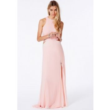 94245cf58c79 Missguided - Anthea Cut Out Split Maxi from MISSGUIDED