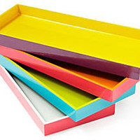 One Kings Lane - Hold Everything - Two-Tone Wood Trays, Asst. of 4
