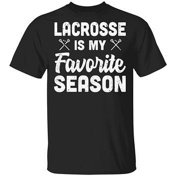 Lacrosse Is My Favorite Season Cool Saying For Sports Lovers