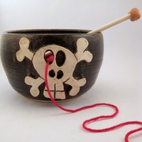 Pick Your Poison Yarn Bowl for Chicks with Sticks by PoFu on Etsy