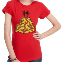 Marvel Deadpool Tacos Girls T-Shirt