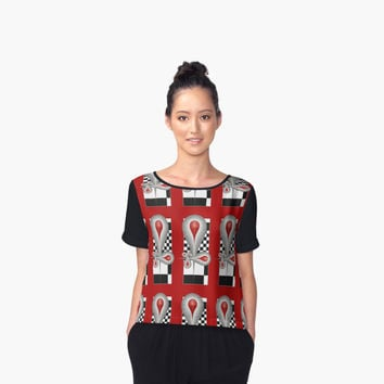 'Caught Tears Fractal Design and Pattern' Chiffontop für Frauen by gabiwArt