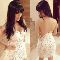 Hollow out Sexy backless  Dress