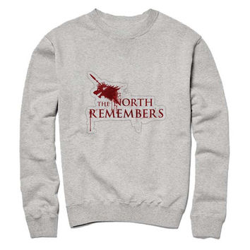 the north remember Sweatshirt Crewneck Men or Women for Unisex Size