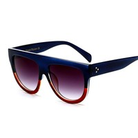 2017 Europe and the United States trend of high-quality 43g Europe and the United States big sunglasses women's rivet sunglasses