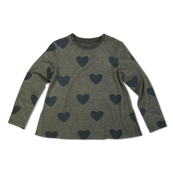 Olive Hearts Tee - Girls