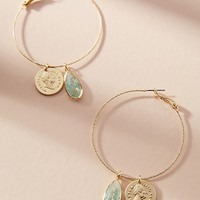 Royal Coin Hoop Earrings