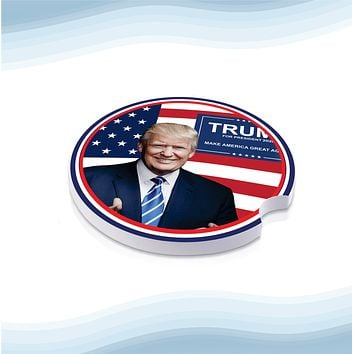 Trump 2020 President Car Cup Holder Ceramic Coasters (Set of 2)